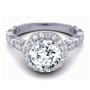 0.90 Ct Natural Diamond Engagement Ring Solid 18k White Gold Rings Size 5 7 9