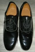 Mess Dress Mens Black Patent Leather Shoes Size 10m British Military Issue New