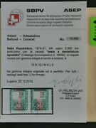 Italy Stamp1979 3000 Lire Head And Perf.shifted Variety Sassone1460b Cv 20.900