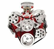 Billet Specialties V3220 Vtrac Pulley System Sbc Chevy W/p/s And A/c
