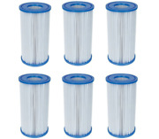 6 Pack Bestway Type Iii A/c Filter Cartridge For 1000 And 1500 Gph Filter Pumps