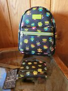 Loungefly Disney Pixar Toy Story Alien Costumes Mini Backpack And Wallet