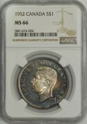 1952 Canada Dollar Ms66 Ngc 943316-1 Color