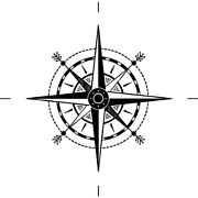 'compass' Rubber Stamp Rs017456