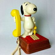 Snoopy And Woodstock Vintage Push Button Phone By Atc Model Tmbf 8010