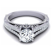 Special Sale 0.80 Ct Real Diamond Anniversary Ring Solid 950 Platinum Size 5 6 7