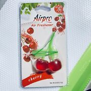 Airpro Red Cherry Shape Hanging Clip Car Air Refresher Fragrance 17g