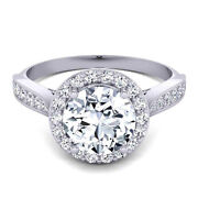 Round 0.80 Carat Real Diamond Engagement Ring 14k Solid White Gold Size 5.5 6 7