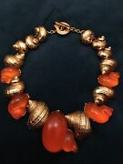 Rare Christian Dior Vintage Shell Necklace. Designed By Robert Goossens