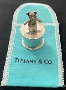 Mint Vintage And Co 925 Sterling Silver Teddy Bear Pill Box / Tooth Fairy