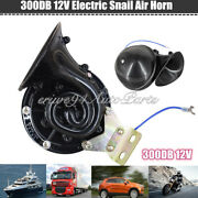 300db 12v Train Horn Super Loud Electric Snail Air Horn Motorcycle Truck Boat Us