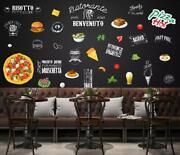 3d French Fries Pizza 8678na Wallpaper Wall Mural Removable Self-adhesive Fay