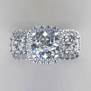 Real 14k White Gold Solitaire Ring Natural 1.50 Ct Diamond Wedding Band 6 7 8