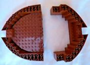2 Lego Light Brown Boat Bow Pieces - Queen Anne's Revenge 4195 64651 64645 95227