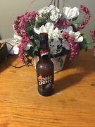1999 Coors Light Football Embossed, Empty Amber 12oz Beer Bottle Collectible