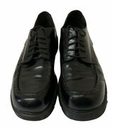 Vintage Dr. Doc Martens Menand039s 10 Black Leather Lace Up Chunky Oxfords England
