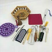 Vintage Kitchen-junk Drawer-misc Mixed Lot Peelers Knives Digital Thermometer