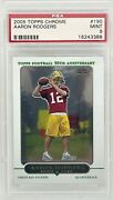 2005 Topps Chrome Aaron Rodgers Rc Rookie 190 Psa 9 Top Sports Cards