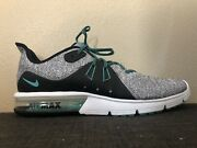 New Nike Air Max Sequent 3 White Mens Sz 14 Sneakers Hyper Jade Black 921694-100