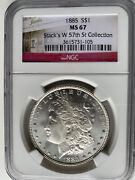 1885-p U.s. Morgan Silver 1 One Dollar Coin - Ngc Ms 67 Stacks West 57 Th St