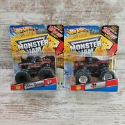Hot Wheels Monster Jam 1/64 Lot Of 2 Bad Habit And Northern Nightmare 1st Editions