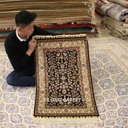 Yilong 2and039x3and039 Classic Area Rug 300line Handmade Silk Tapestry Indoor Carpet 245h