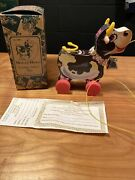 1992 Fisher Price Toyfest Limited Edition Molly Bell Cow Vintage Pull Toy Fest