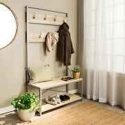 Hall Tree With Bench And Shoe Storage Hallway Entryway Bench With Coat Rack