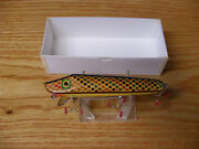 Contemporary C Hines Heddon Style Vamp Lure In Yellow Copper Multi Color Scales