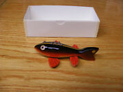 C Hines Heddon Style Fish Decoy Leather Fins In Early Golden Rainbow