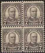 Us Stamp - 1926 7c Mckinley - Perf 10 Block Of 4 Nh Stamps 588