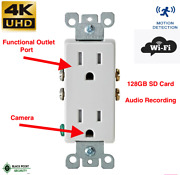 4k Uhd Wall Ac Wifi Decora Functional Receptacle Outlet Hidden Spy Nanny Camera