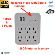 Nanny Camera Wifi Motion Detection Spy 4k Hidden Wall Outlet Adapter Live Stream