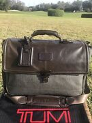 1095 Ultra Rare Tumi Bedford Thornbrook Earl Grey Briefcase Laptop Carry On 💼