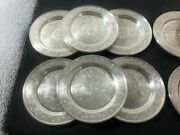 Bigelow And Kennard And Co. Set Of 12 American Sterling Bread Plates 84.8 Oz
