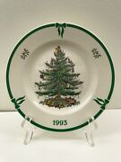 1993 Spode England Annual Collector Plate Christmas Tree In Original Box