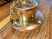 Vintage Attwood Cast Bronze/brass Round Anchor Chain Pipe Large 2 1/2 I.d.