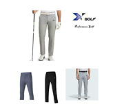 X-performance Men Flat Front Extra Tapered Fit Stretch Golf Pants Casual Trouser