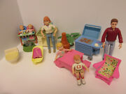 Fisher Price Loving Family Dollhouse Replacement Furniture Mom Dad Twins 1998