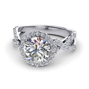 0.96 Ct Natural Diamond Engagement Ring Solid 950 Platinum Rings Size 5 6 7 8 9