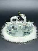 Ornament Decoration Crystal Swans Statue Car Perfume Love Gift