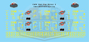 Cnw Chicago And North Western Ore Car Yellow Block Style O Scale Decals Walthers A