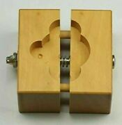 Wooden Watchmakers Case And Movement Holder Clamp Repairing Watch Wood Vintage
