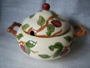 Franciscan China Apple Usa Pattern Round 3-toed Soup Tureen And Lid - 8-1/2 Tall