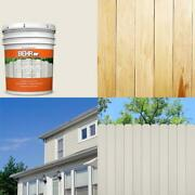 5 Gal. Bxc-32 Picket Fence White Solid Color House And Fence Exterior Wood Stai