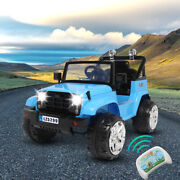 Electric 12v Kids Battery Ride On Car Toy 4 Wheel Music With Remote Control Blue