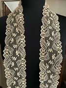 Gorgeous Antique French Lace Edging - Lily Of Valley - 200cm By 7.5cm