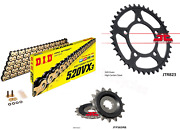 Gold Did X-ring Chain And Jt Quiet Sprocket Kit For Suzuki Sv650 Abs 16 To 18