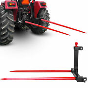 Category 1 Tractor 3 Point Attachment Trailer Hitch W 49and039and039 Hay Spears Stabilizer
