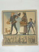 Collectible Old England People Costume In 14th Century Period Chart Paper